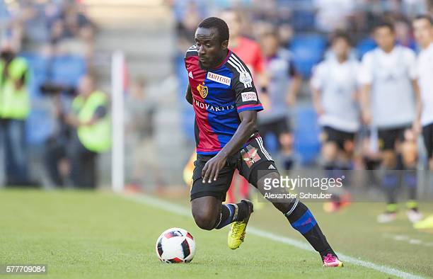Seydou Doumbia of FC Basel during the friendly match between FC Basel and VfL Wolfsburg at St JakobPark on July 19 2016 in Basel Switzerland