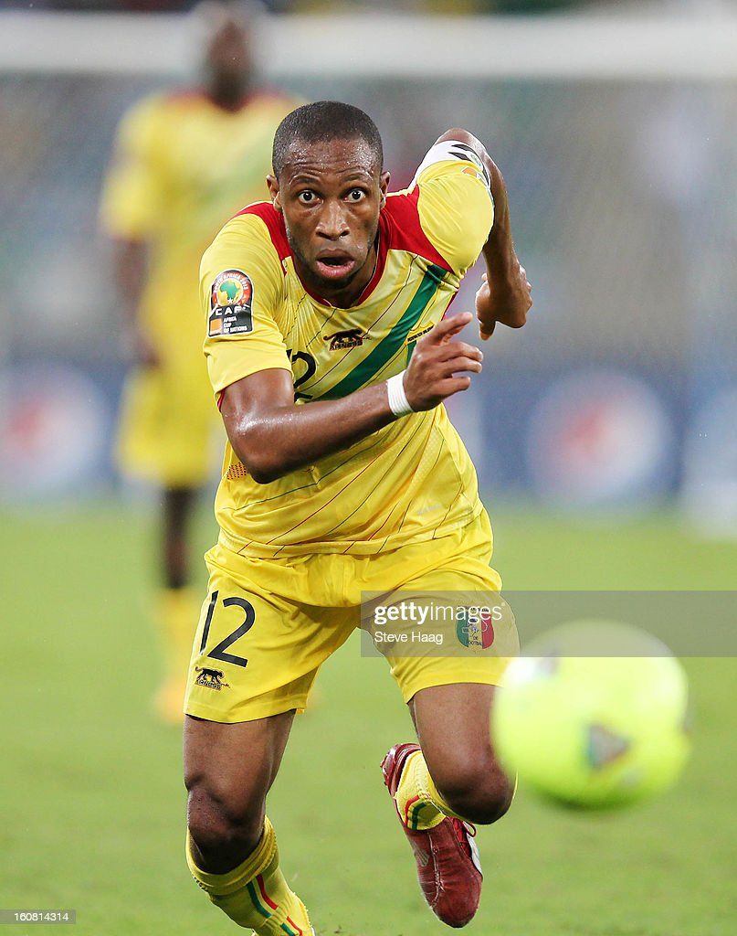 <a gi-track='captionPersonalityLinkClicked' href=/galleries/search?phrase=Seydou+Keita&family=editorial&specificpeople=709847 ng-click='$event.stopPropagation()'>Seydou Keita</a> of Mali during the 2013 African Cup of Nations Semi-Final match between Mali and Nigeria at Moses Mahbida Stadium on February 06, 2013 in Durban, South Africa.