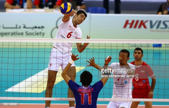 Seyed Mohammad Mousavi during 17th Asian Men's Volleyball Championship between Iran And Japan on October 5 2013 in Dubai United Arab Emirates