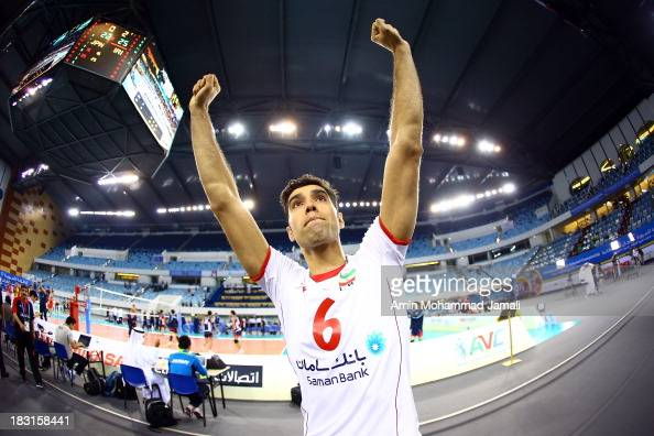 Seyed Mohammad Mousavi during the 17th Asian Men's Volleyball Championship between Iran And Japan on October 5 2013 in Dubai United Arab Emirates
