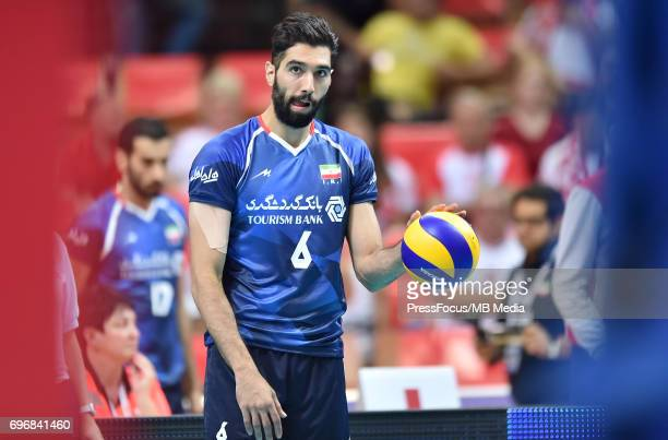 Seyed Mohammad Mousavi Eraghi during the FIVB World League 2017 match between Iran and USA at Arena Spodek on June 15 2017 in Katowice Poland