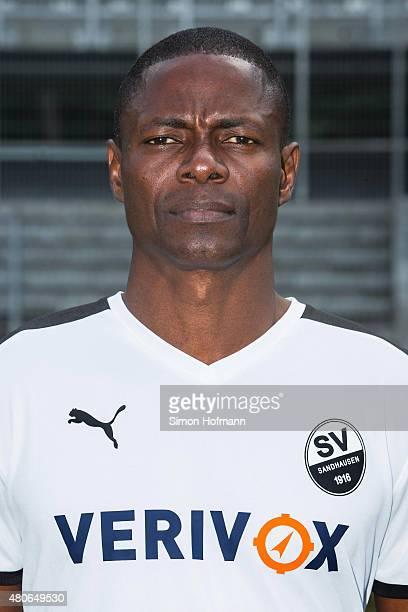 Seyi Olajengbesi poses during SV Sandhausen Team Presentation on June 26 2015 in Sandhausen Germany