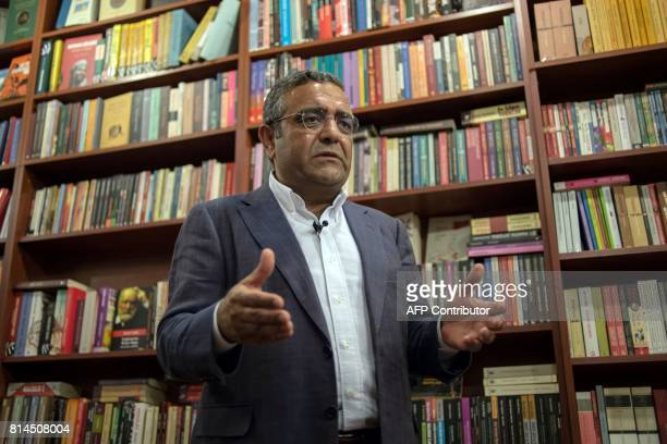 Sezgin Tanrikulu Istanbul MP from the main opposition Republican People's Party speaks on July 4 2017 during an interview in Istanbul Just before...