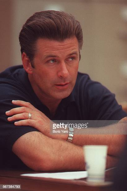 SFBaldwin10720BY –– Actor Alec Baldwin listens as jury verdict is read in Van Nuys Superior Court Monday July 20 1998 Baldwin was ordered to pay...
