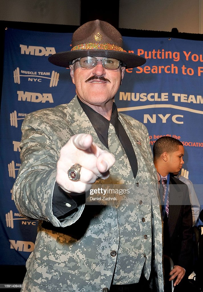 Sgt. Slaughter attends the 16th Annual MDA Muscle Team Gala and Benefit Auction at Pier 60 on January 8, 2013 in New York City.