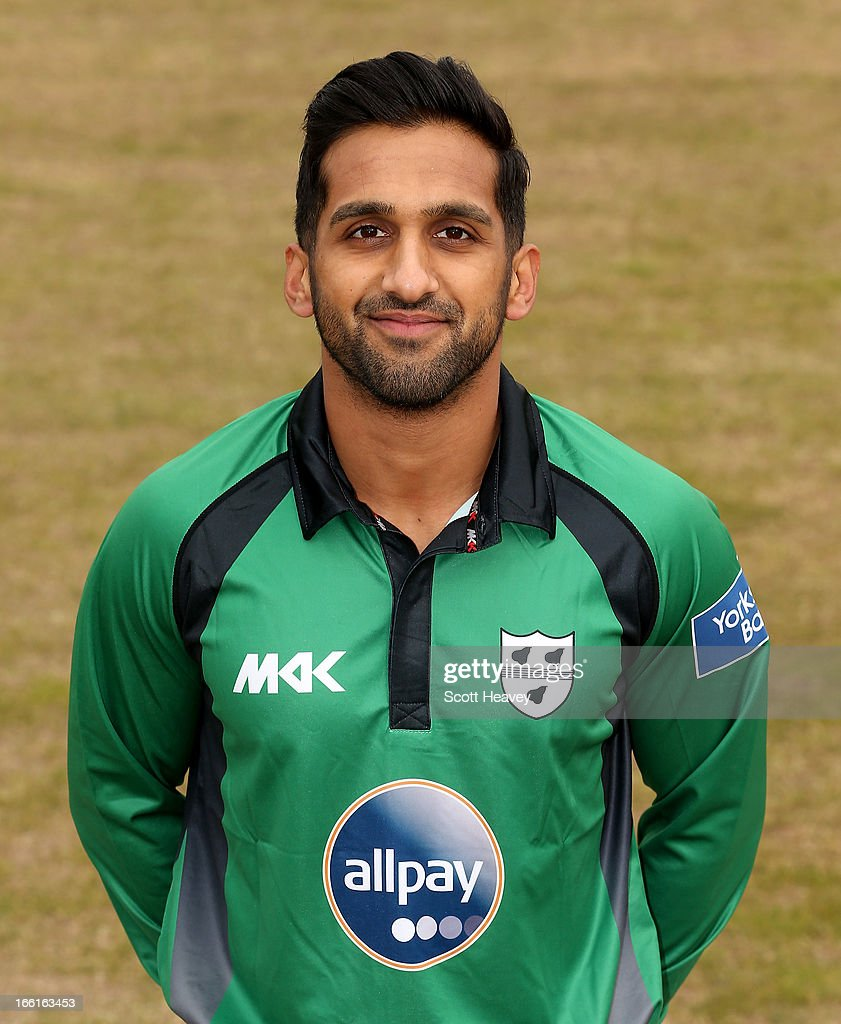 Shaaiq Choudhry during a Photocall for Worcestershire County Cricket Club on April 9, 2013 in Worcester, England.