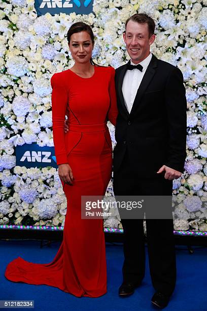 Shaan Ronchi and Luke Ronchi pose ahead of the 2016 New Zealand cricket awards at the Viaduct Events Centre on February 25 2016 in Auckland New...