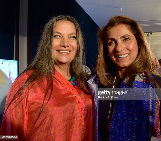 Shabana Azmi and Dimple Kapadia at the launch of Twinkle Khanna's second book The Legend of Lakshmi Prasad published by Juggernaut Books at the JW...