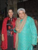 Shabana Azmi and Javed Akhtar at the Birthday Party of actor Anil Kapoor held at Juhu in Mumbai