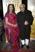 Shabana Azmi and Javed Akhtar attend the 2011 Light of India awards at The WaldorfAstoria on April 22 2011 in New York City