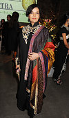Shabana Azmi attends a Fashion Gala fundraiser hosted by the Akshaya Patra Foundation for underpriveleged children in India at Vinopolis on March 2...