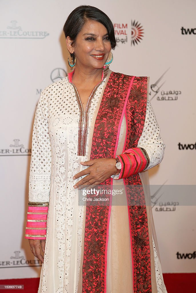 Shabana Azmi attends day one of the Abu Dhabi Film Festival 2012 at Emirates Palace on October 11, 2012 in Abu Dhabi, United Arab Emirates.