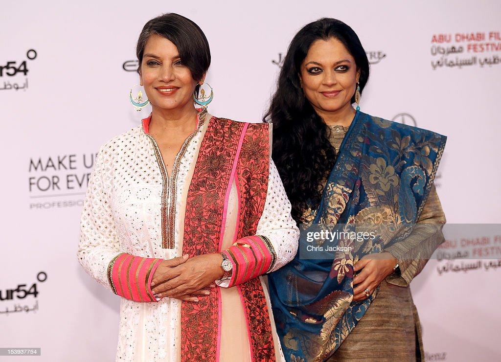 Shabana Azmi attends day one of the Abu Dhabi Film Festival 2012 at Emirates Palace on October 11, 2012 in Abu Dhabi, United Arab Emirates.