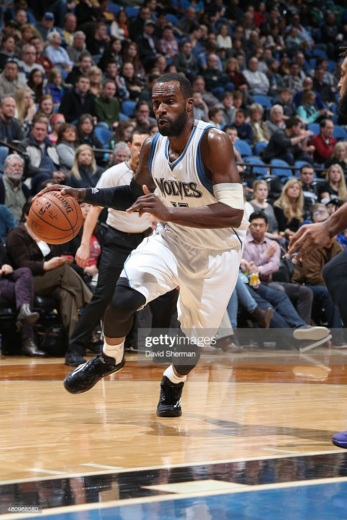 <a gi-track='captionPersonalityLinkClicked' href=/galleries/search?phrase=Shabazz+Muhammad&family=editorial&specificpeople=7447677 ng-click='$event.stopPropagation()'>Shabazz Muhammad</a> #15 of the Minnesota Timberwolves drives against the Sacramento Kings on January 1, 2015 at Target Center in Minneapolis, Minnesota.