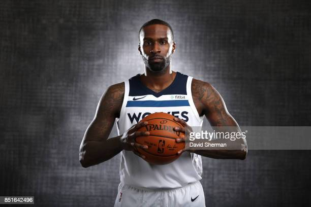 Shabazz Muhammad of the Minnesota Timberwolves pose for portraits during 2017 Media Day on September 22 2017 at the Minnesota Timberwolves and Lynx...