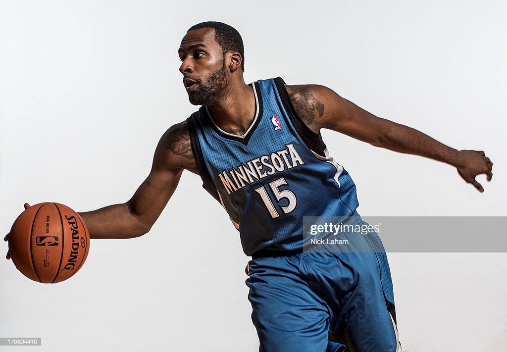 Shabazz Muhammad #15 of the Minnesota Timberwolves poses for a portrait during the 2013 NBA rookie photo shoot at the MSG Training Center on August 6, 2013 in Greenburgh, New York.