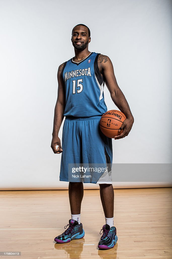 <a gi-track='captionPersonalityLinkClicked' href=/galleries/search?phrase=Shabazz+Muhammad&family=editorial&specificpeople=7447677 ng-click='$event.stopPropagation()'>Shabazz Muhammad</a> #15 of the Minnesota Timberwolves poses for a portrait during the 2013 NBA rookie photo shoot at the MSG Training Center on August 6, 2013 in Greenburgh, New York.