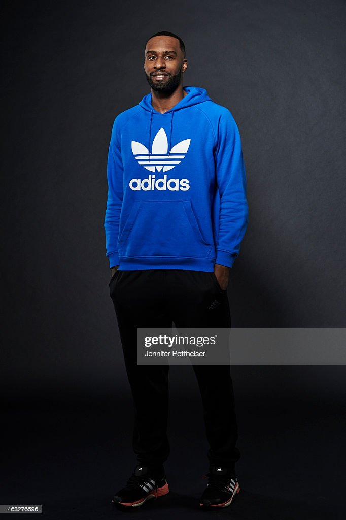 Shabazz Muhammad of the Minnesota Timberwolves poses for portraits during the NBAE Circuit as part of 2015 All-Star Weekend at the Sheraton Times Square Hotel on February 12, 2015 in New York, New York.