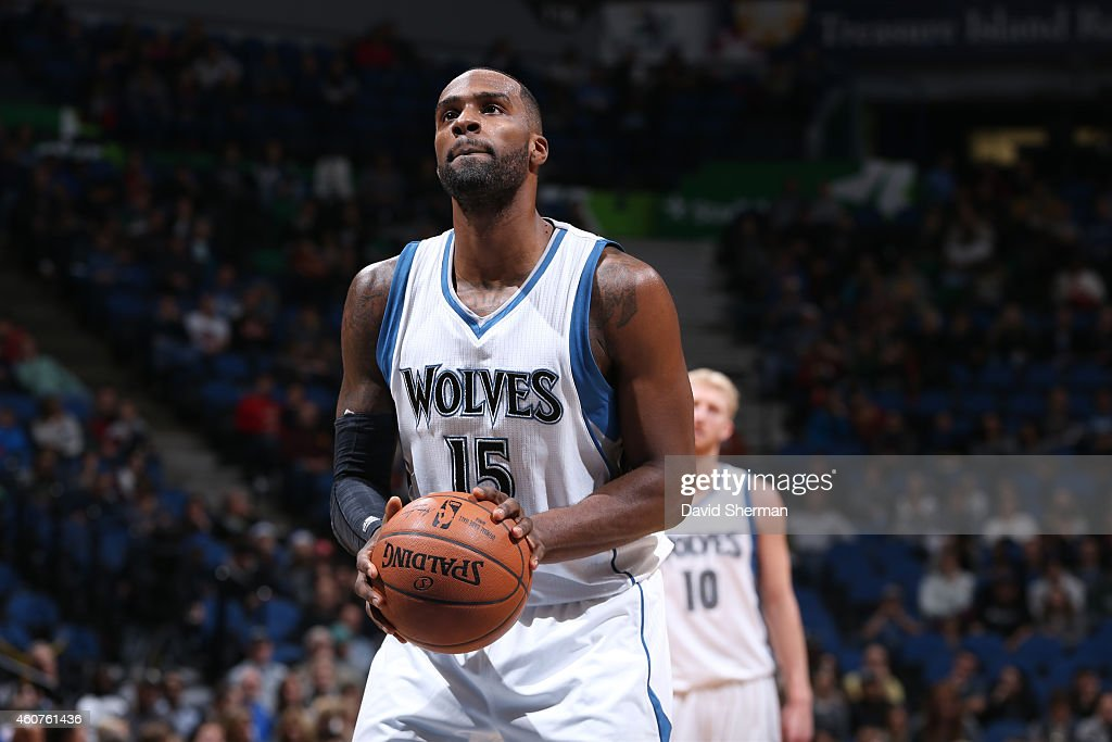 <a gi-track='captionPersonalityLinkClicked' href=/galleries/search?phrase=Shabazz+Muhammad&family=editorial&specificpeople=7447677 ng-click='$event.stopPropagation()'>Shabazz Muhammad</a> #15 of the Minnesota Timberwolves prepares to shoot a free throw against the Indiana Pacers on December 21, 2014 at Target Center in Minneapolis, Minnesota.