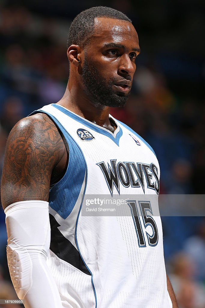 Shabazz Muhammad #15 of the Minnesota Timberwolves stands on the court against the Cleveland Cavaliers on November 13, 2013 at Target Center in Minneapolis, Minnesota.