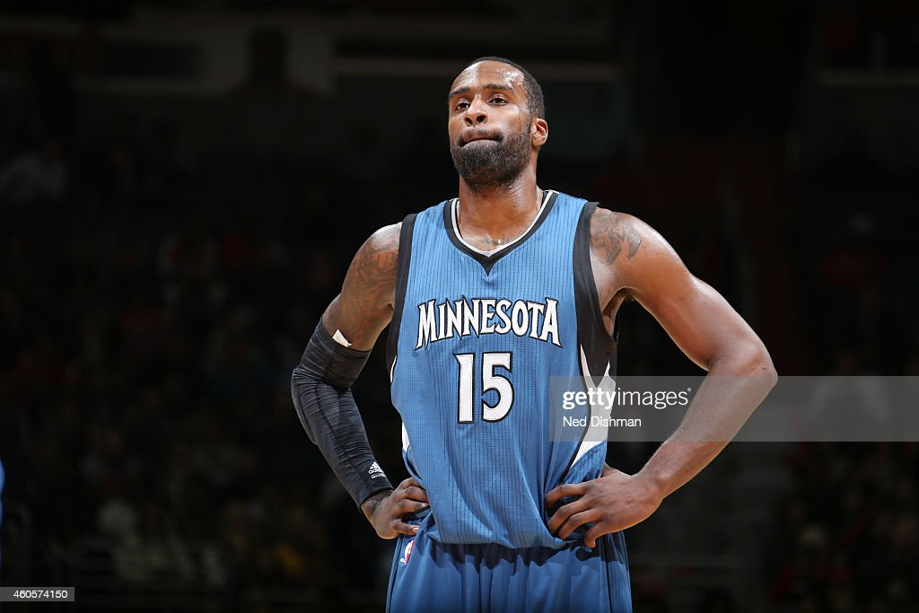 Shabazz Muhammad #15 of the Minnesota Timberwolves during the game against the Washington Wizards on December 16, 2014 at Verizon Center in Washington, DC.