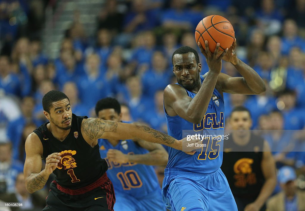 <a gi-track='captionPersonalityLinkClicked' href=/galleries/search?phrase=Shabazz+Muhammad&family=editorial&specificpeople=7447677 ng-click='$event.stopPropagation()'>Shabazz Muhammad</a> #15 of the UCLA Bruins steals the ball from Jio Fontan #1 of the USC Trojans in the second half at Pauley Pavilion on January 30, 2013 in Los Angeles, California. USC defeated UCLA 75-71 in overtime.