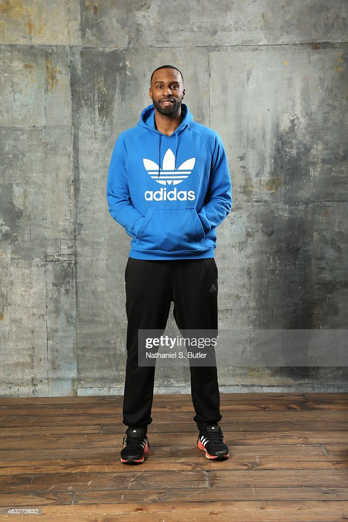 Shabazz Muhammed of the Minnesota Timberwolves poses for portraits during the NBAE Circuit as part of 2015 All-Star Weekend at the Sheraton Times Square Hotel on February 12, 2015 in New York, New York.