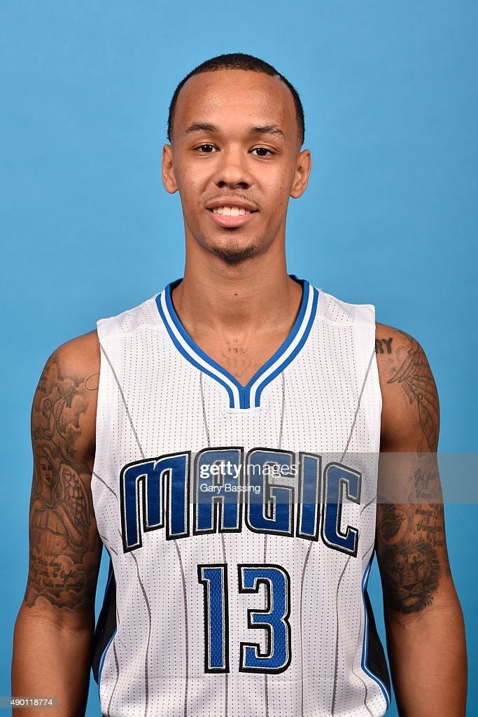 <a gi-track='captionPersonalityLinkClicked' href=/galleries/search?phrase=Shabazz+Napier&family=editorial&specificpeople=7338263 ng-click='$event.stopPropagation()'>Shabazz Napier</a> #13 of the Orlando Magic poses for a headshot during NBA Media Day on September 25, 2015 at Amway Center in Orlando, Florida.
