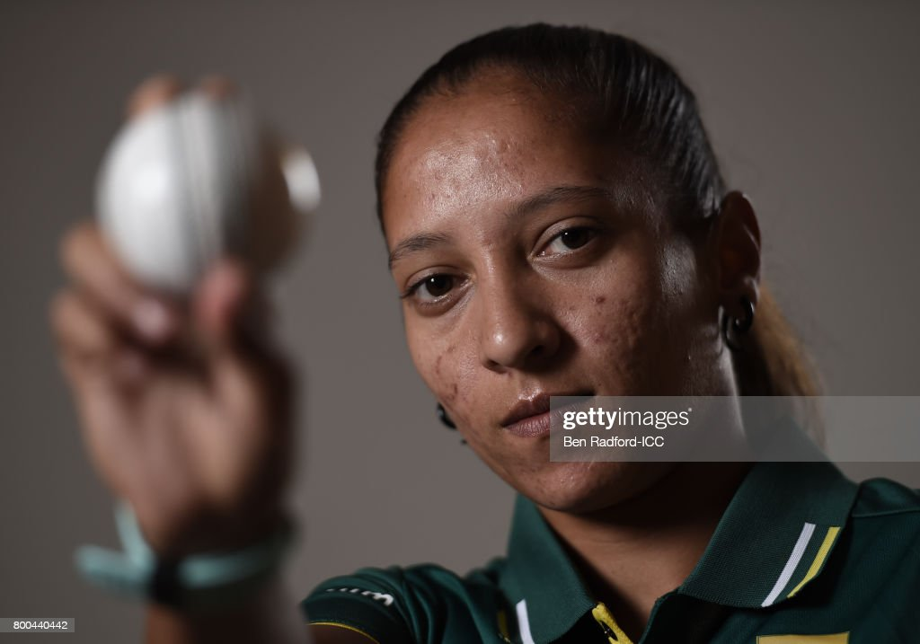 Shabnim Ismail of South Africa on June 19, 2017 in Leicester, England.