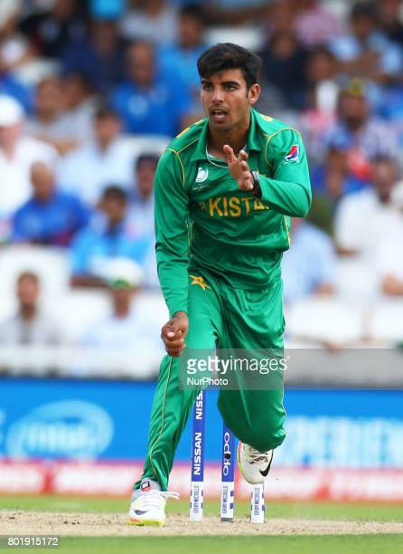 Shadab Khan of Pakistan during the ICC Champions Trophy Final match between India and Pakistan at The Oval in London on June 18 2017