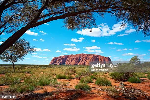 Shaded Viewpoint Of Uluru