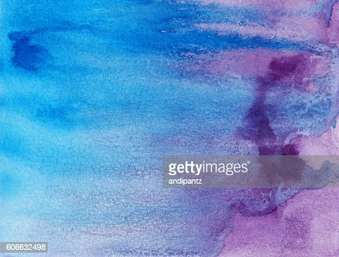 Shades Of Blue Paint distressed background with drips of purple and blue paint stock