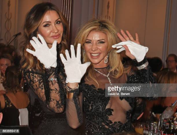 Shadi Ritchie and Lisa Tchenguiz serve dinner at the BOVET 1822 Brilliant is Beautiful Gala benefitting Artists for Peace and Justice's Global...