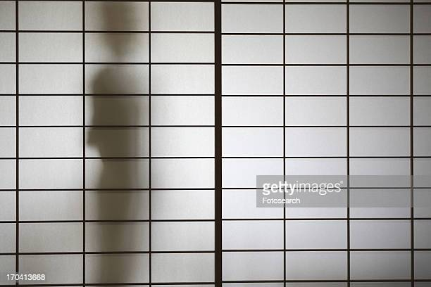 Shadow appeared in the shoji