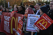 GBR: McDonald's Workers Protest About Pay And Conditions