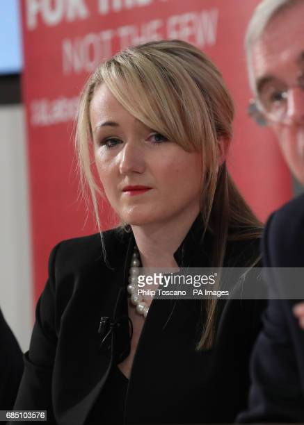 Shadow business secretary Rebecca LongBailey addresses a press conference in London to outline the Tories threats to living standards which would hit...