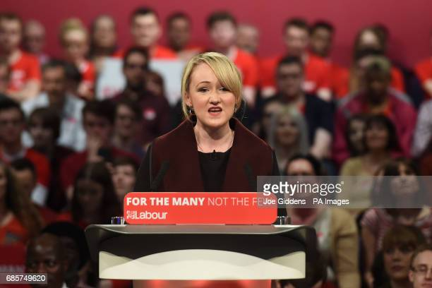 Shadow business secretary Rebecca LongBailey addresses supporters during a General Election campaign event at the International Convention Centre...