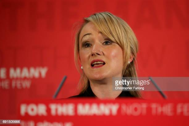 Shadow Business Secretary Rebecca LongBailey gives a speech on Labour's industrial strategy during a General Election campaign visit with leader...
