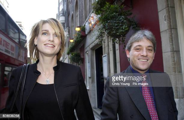 Shadow Cabinet member John Bercow walks with his fiancee Sally Illman to the House of Commons after he quit Iain Duncan Smith's frontline team...