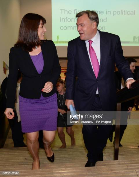 Shadow chancellor Ed Balls and shadow chief secretary to the treasury Rachel Reeves arrive at the Labour Party conference in Brighton today where Mr...