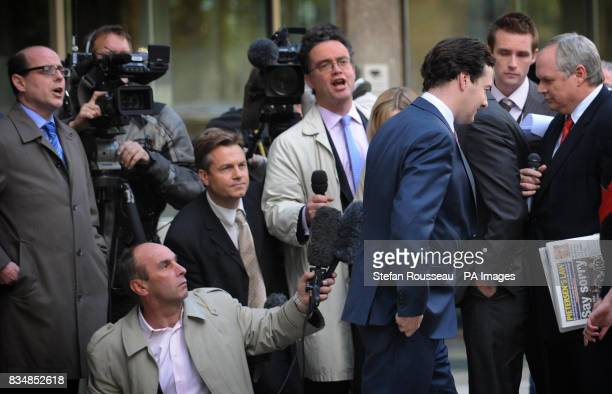 Shadow Chancellor George Osborne outside Conservative HQ in London where said he neither asked for nor received money for his party from a Russian...