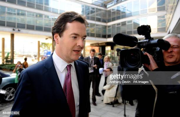 Shadow Chancellor George Osborne speaks outside Conservative HQ in London where said he neither asked for nor received money for his party from a...