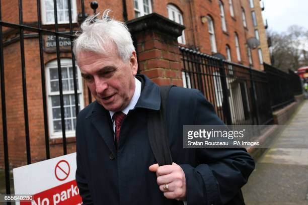 Shadow Chancellor John McDonnell departs after a meeting at Unison's headquarters in central London as Jeremy Corbyn and Tom Watson have issued a...