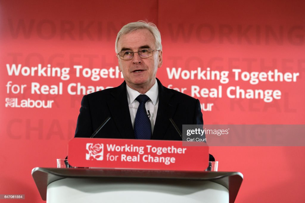The Shadow Chancellor Gives His Pre-budget Speech