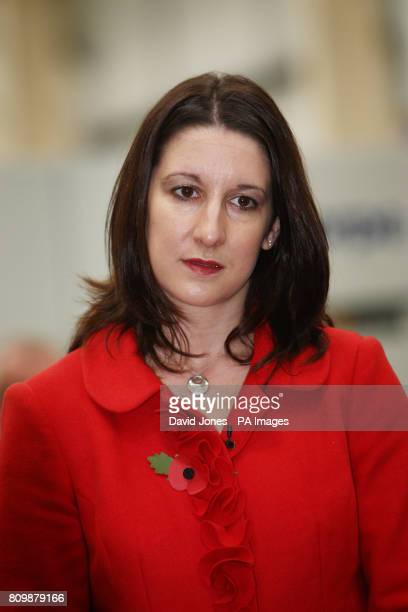 Shadow Chief Secretary to the Treasury Rachel Reeves talks to employees at Manthorpe Engineering near Ripley Derbyshire after Labour Party leader Ed...