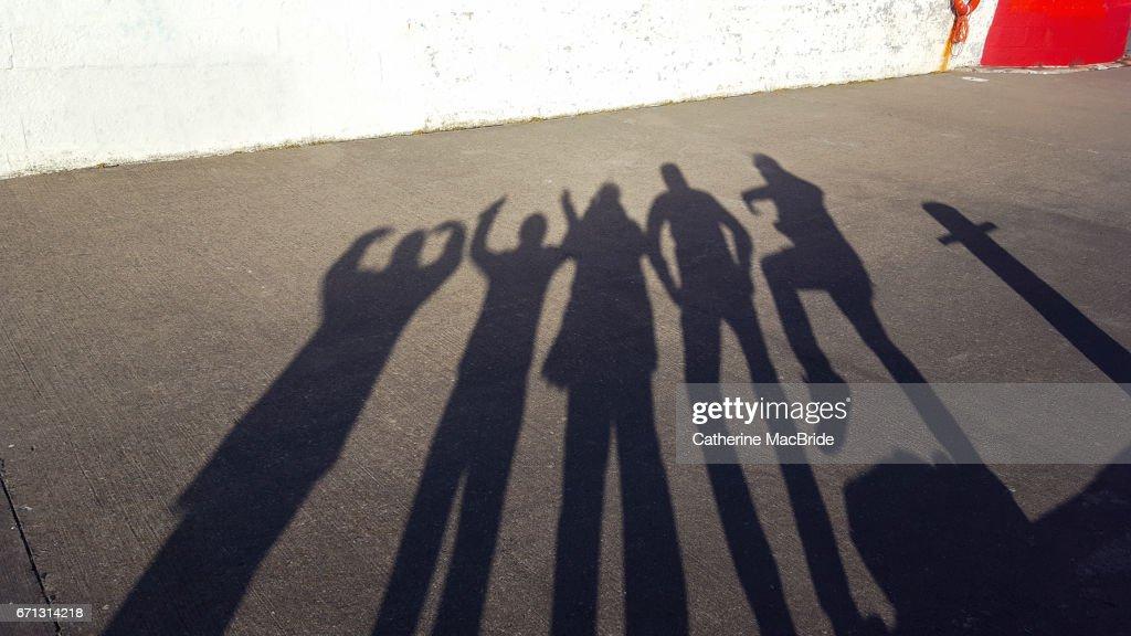 Shadow Family Portrait... : Stock Photo