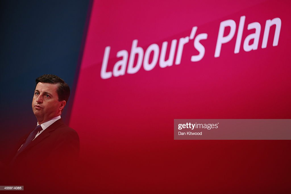 Shadow Foreign Secretary <a gi-track='captionPersonalityLinkClicked' href=/galleries/search?phrase=Douglas+Alexander&family=editorial&specificpeople=616758 ng-click='$event.stopPropagation()'>Douglas Alexander</a> delivers a speech to delegates on day two of the Labour party Conference on September 22, 2014 in Manchester, England. The four-day annual Labour Party Conference opened in Manchester yesterday and is expected to attract thousands of delegates with keynote speeches from influential politicians and over 500 fringe events.