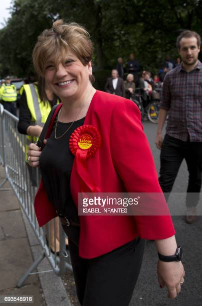 Shadow Foreign Secretary Emily Thornberry arrives at the Union Chapel prior to the arrival of Britain's opposition Labour Party leader Jeremy Corbyn...