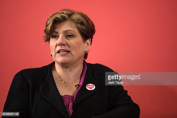Shadow Foreign Secretary Emily Thornberry responds to a question from the audience following a speech by Labour Leader Jeremy Corbyn at the Methodist...