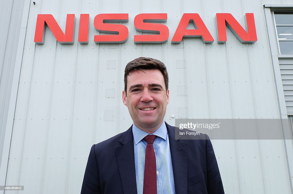Shadow Health Secretary and Labour leadership hopeful <a gi-track='captionPersonalityLinkClicked' href=/galleries/search?phrase=Andy+Burnham&family=editorial&specificpeople=469823 ng-click='$event.stopPropagation()'>Andy Burnham</a> visits the Nissan car manufacturing plant on September 4, 2015 in Sunderland, England. The Labour Party leadership election was triggered by the resignation earlier in the year of Ed Miliband following the party's defeat at the general election. Four candidates were successfully nominated to stand, <a gi-track='captionPersonalityLinkClicked' href=/galleries/search?phrase=Andy+Burnham&family=editorial&specificpeople=469823 ng-click='$event.stopPropagation()'>Andy Burnham</a>, Yvette Cooper, Jeremy Corbyn and Liz Kendall. The result of the leadership campaign will be announced on Saturday 12 September 2105.